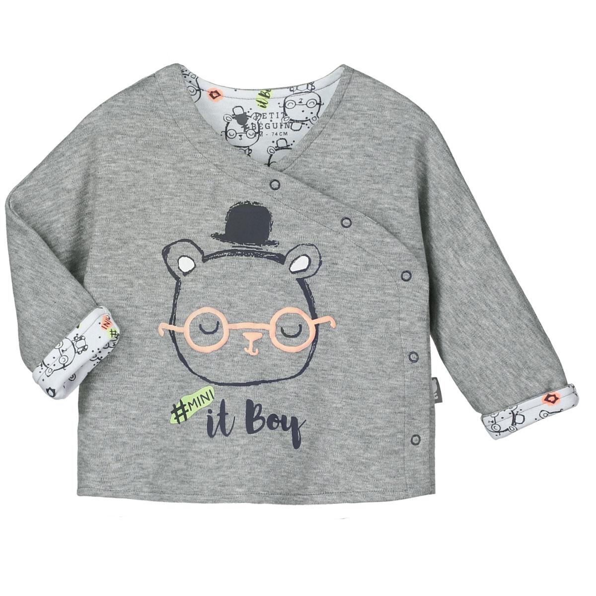 Pyjama bébé 2 pièces avec pieds Mini Boy
