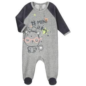 Pyjama bébé velours Mini Boy