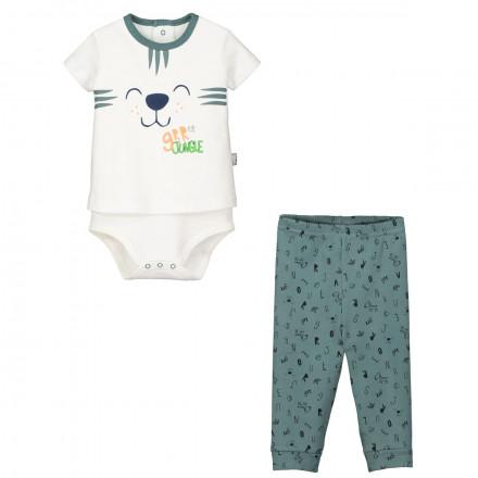 Ensemble bébé garçon body T-shirt + pantalon Baby Jungle