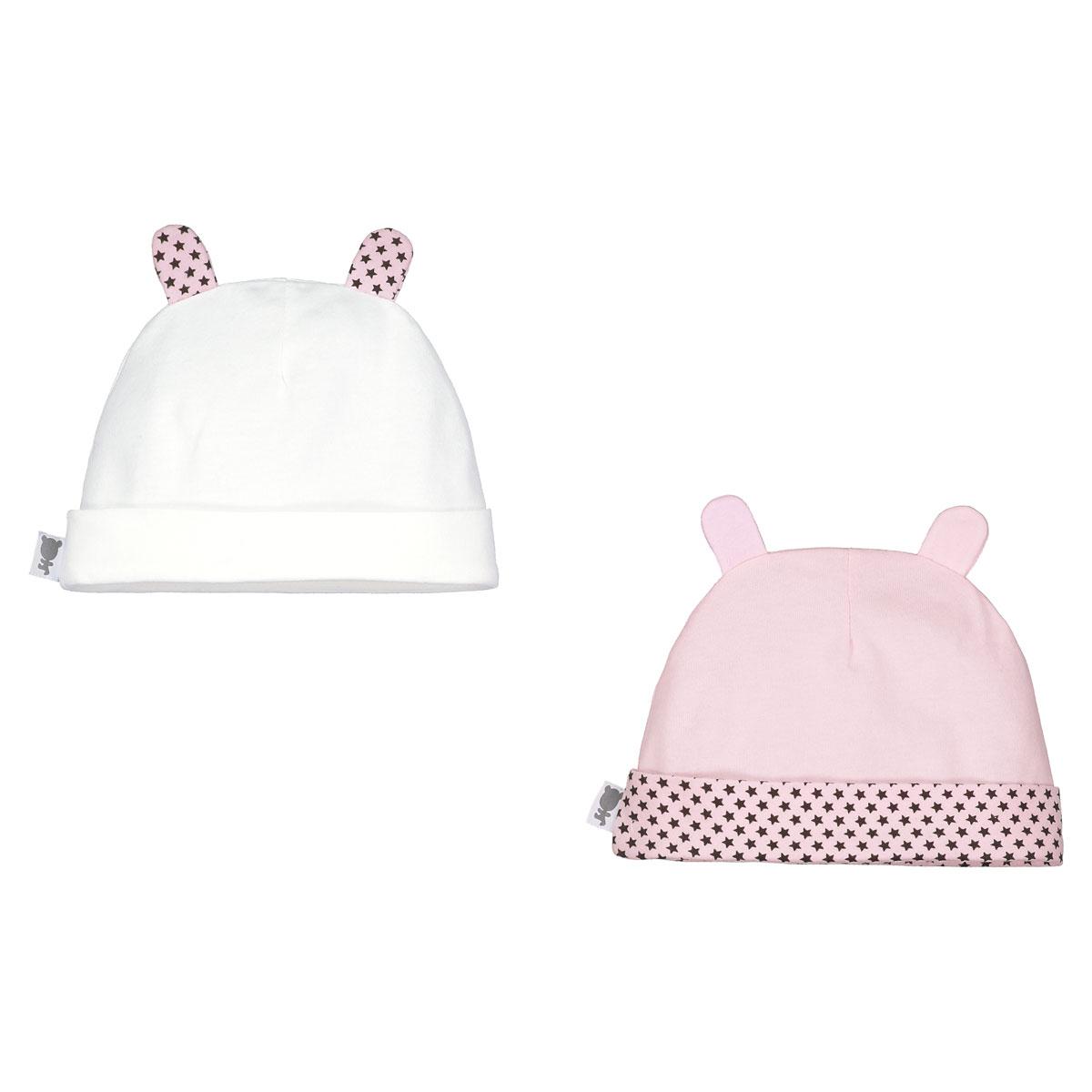 Lot de 2 bonnets bébé fille Jolie Planète