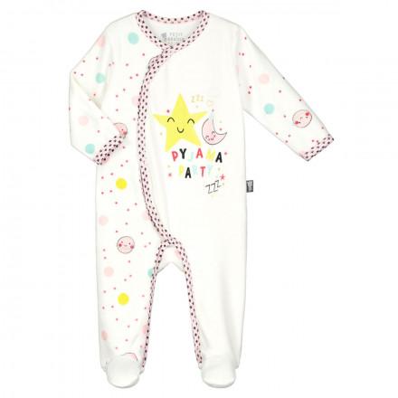 Pyjama bébé velours écru Jolie Planète