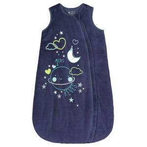 Gigoteuse d'hiver en velours bleu Pyjama Party