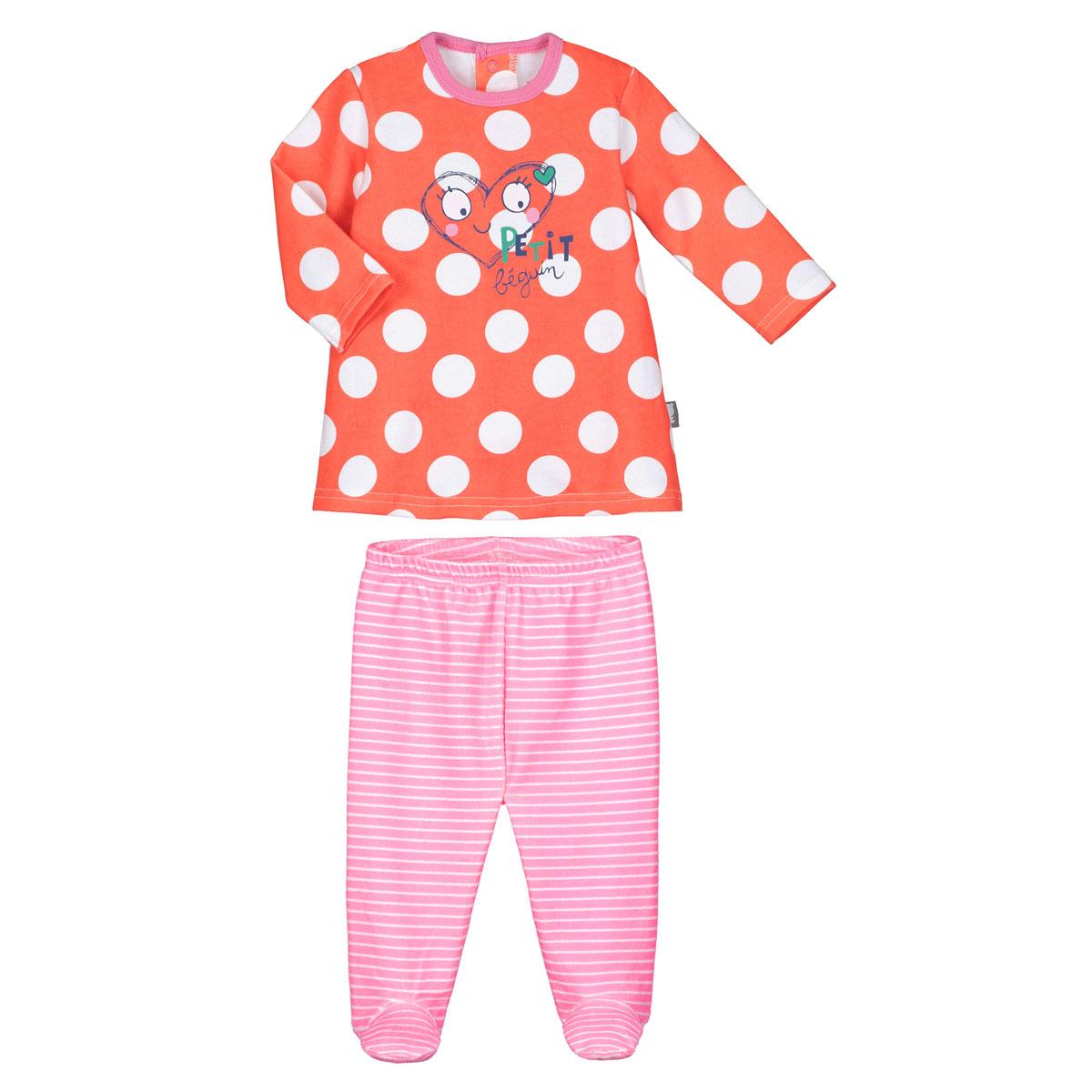9c525dfd2b2d9 Pyjama bébé 2 pièces avec pieds Illico - PETIT BEGUIN