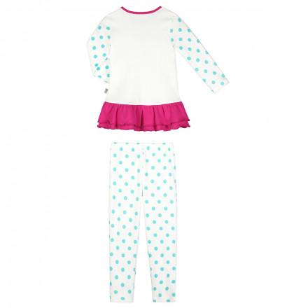 Pyjama fille manches longues ivoire Petite Rêveuse