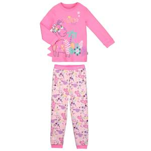 73db1183d4d6a Pyjama fille manches longues rose Dino girl