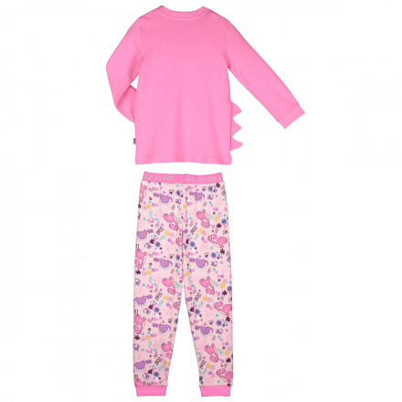 Pyjama fille manches longues rose Dino girl