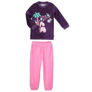 Pyjama fille manches longues violet Dino girl