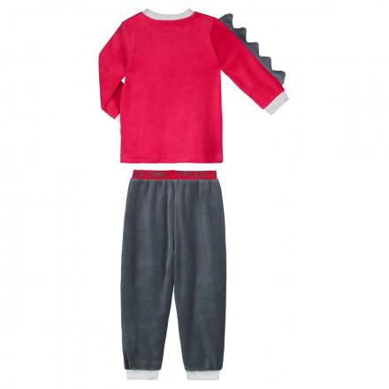 Pyjama garçon manches longues rouge Dino boy