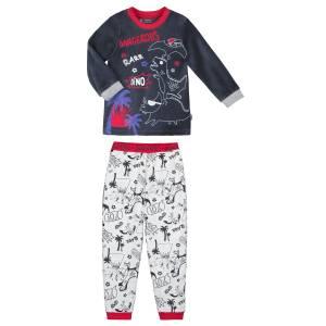 Pyjama garçon manches longues gris Dino boy