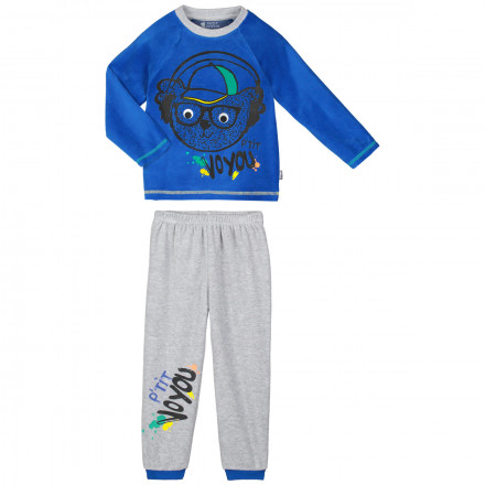 Pyjama garçon manches longues bleu P'tit Voyou