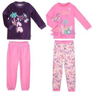 Lot de 2 pyjamas fille manches longues Dino girl