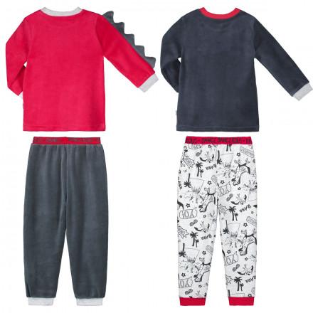 Lot de 2 pyjamas garçon manches longues Dino boy