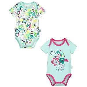 Lot de 2 bodies manches courtes bébé fille Hamini