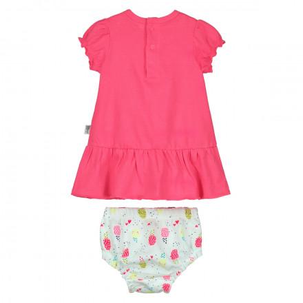 Ensemble bébé fille robe + bloomer Love Caraibes