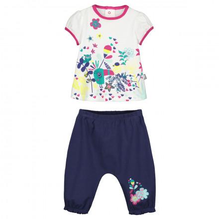 Ensemble bébé fille t-shirt + sarouel Hamini