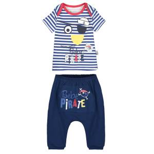 Ensemble bébé garçon t-shirt + sarouel Bébé Pirate
