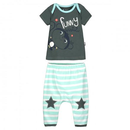 Ensemble bébé garçon t-shirt + sarouel Funny Wistiti