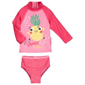 Maillot de bain ANTI-UV 2 pièces t-shirt & slip bébé fille Fruity Party