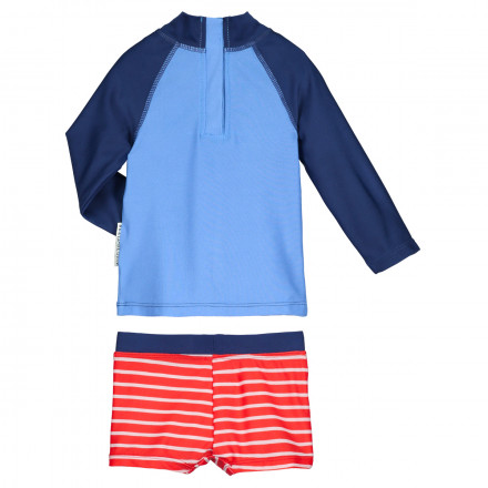 Maillot de bain ANTI-UV 2 pièces t-shirt & slip bébé garçon Happy Summer