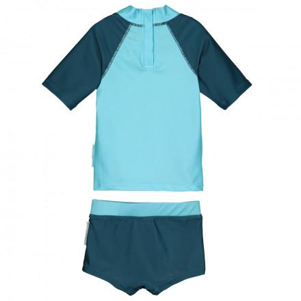 Maillot de bain ANTI-UV 2 pièces t-shirt & slip garçon Sharky
