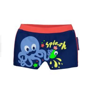 Boxer de bain bébé garçon bleu Splash