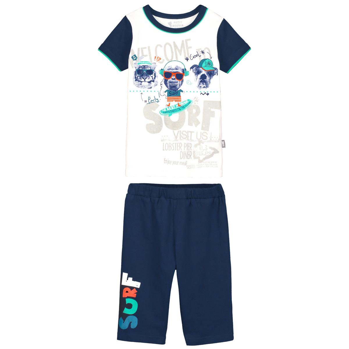 Pyjama garçon manches courtes Summer Tiger
