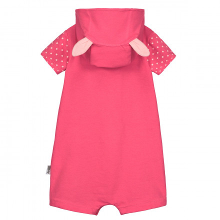 Combishort à capuche bébé fille Strawberry
