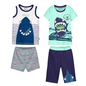 Lot de 2 pyjamas garçon Little Sharky