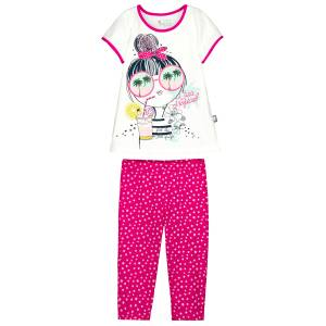 Pyjama fille manches courtes Funny Tropical
