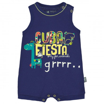 Barboteuse débardeur bébé garçon Cuba Fiesta