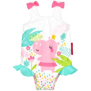 Maillot de bain 1 pièce bébé fille Hippo