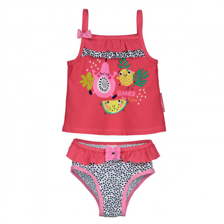 Maillot de bain 2 pièces top + slip bébé fille Fruity Party