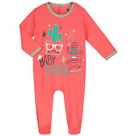 Grenouillère bébé garçon rouge Mister Cactus