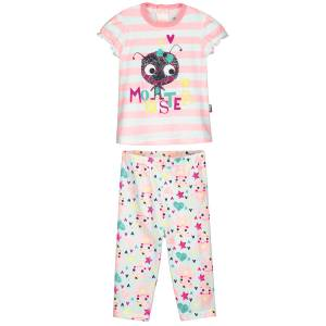 Ensemble t-shirt et pantalon bébé fille Monster