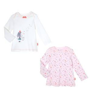 Lot de 2 t-shirts manches longues bébé fille Star