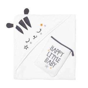 Cape et gant de bain bébé mixte Little Baby