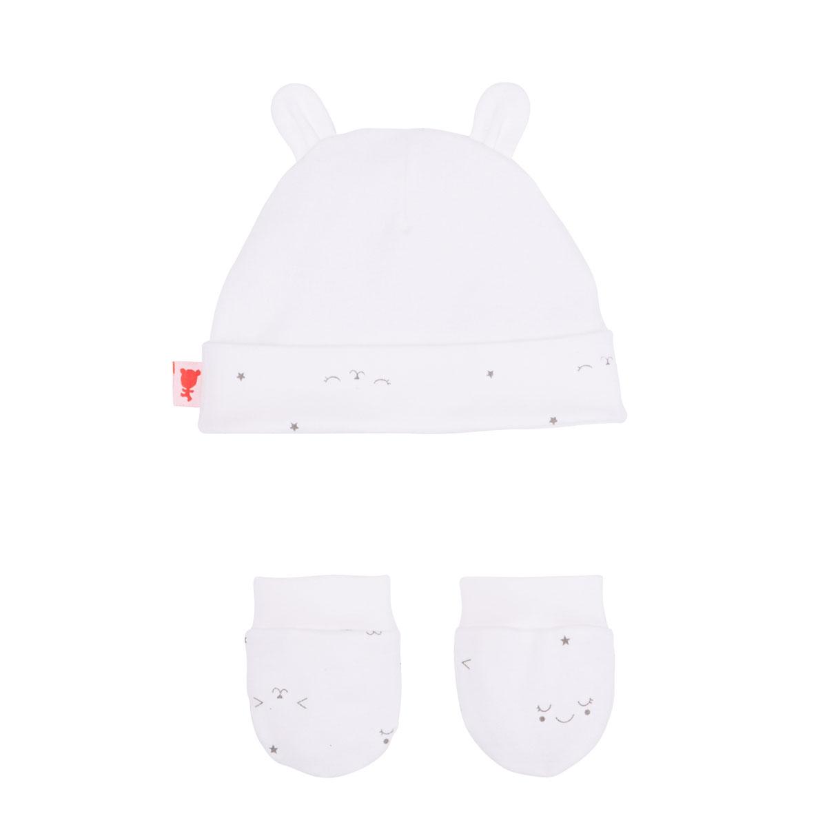Bonnet + moufles anti-griffures bébé mixte Little Baby