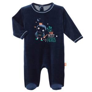 Pyjama bébé velours Petit Héros