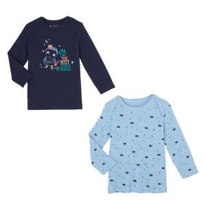 Lot de 2 t-shirts manches longues bébé garçon Petit Héros