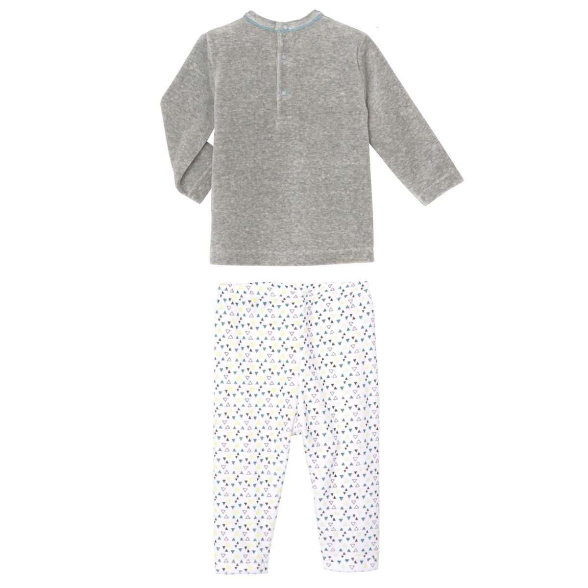 Pyjama bébé 2 pièces velours Petit Panda dos