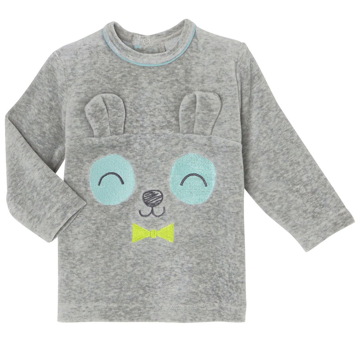 Pyjama bébé 2 pièces velours Petit Panda tshirt