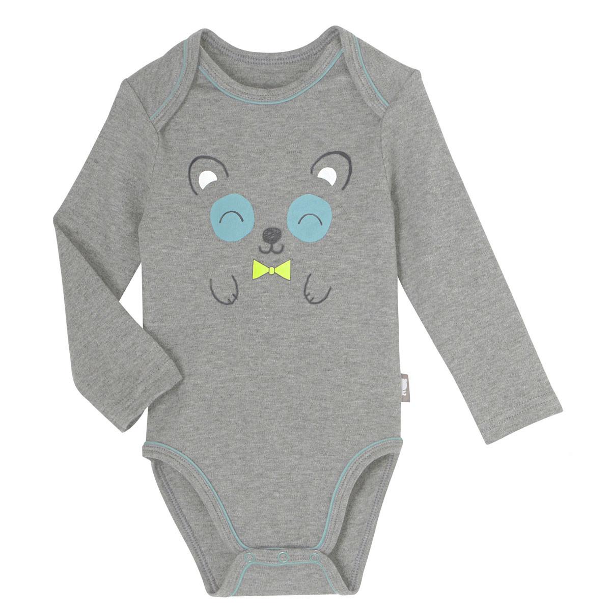 ... Lot de 2 bodies bébé garçon manches longues Petit Panda. Prix réduit 2a7daf59649