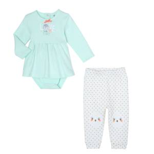 Ensemble bébé fille body tunique + legging Love Planet