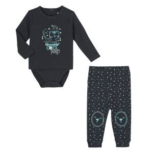 Ensemble bébé garçon body T-shirt + pantalon Cool Planet