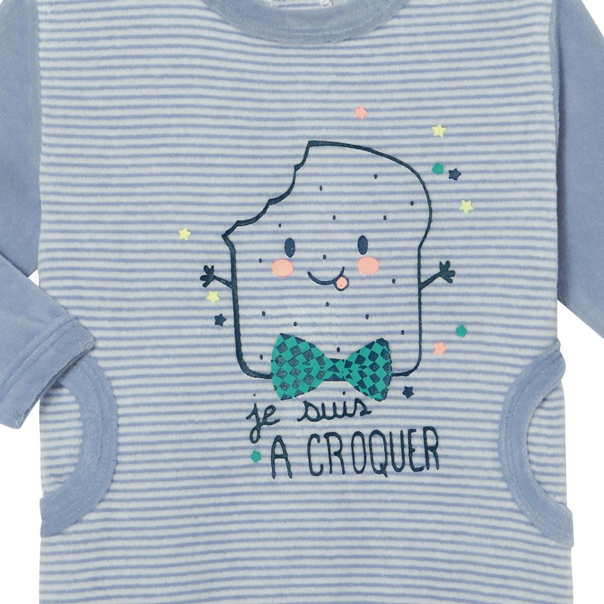 Pyjama bébé velours Milky