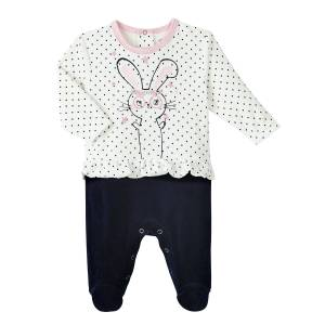 Pyjama bébé fille velours Magic Bunny