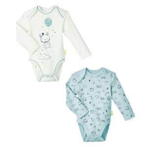 Lot de 2 bodies bébé garçon manches longues Magic Party