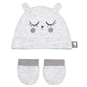 Bonnet + moufles anti-griffures bébé mixte With Love 0/3M