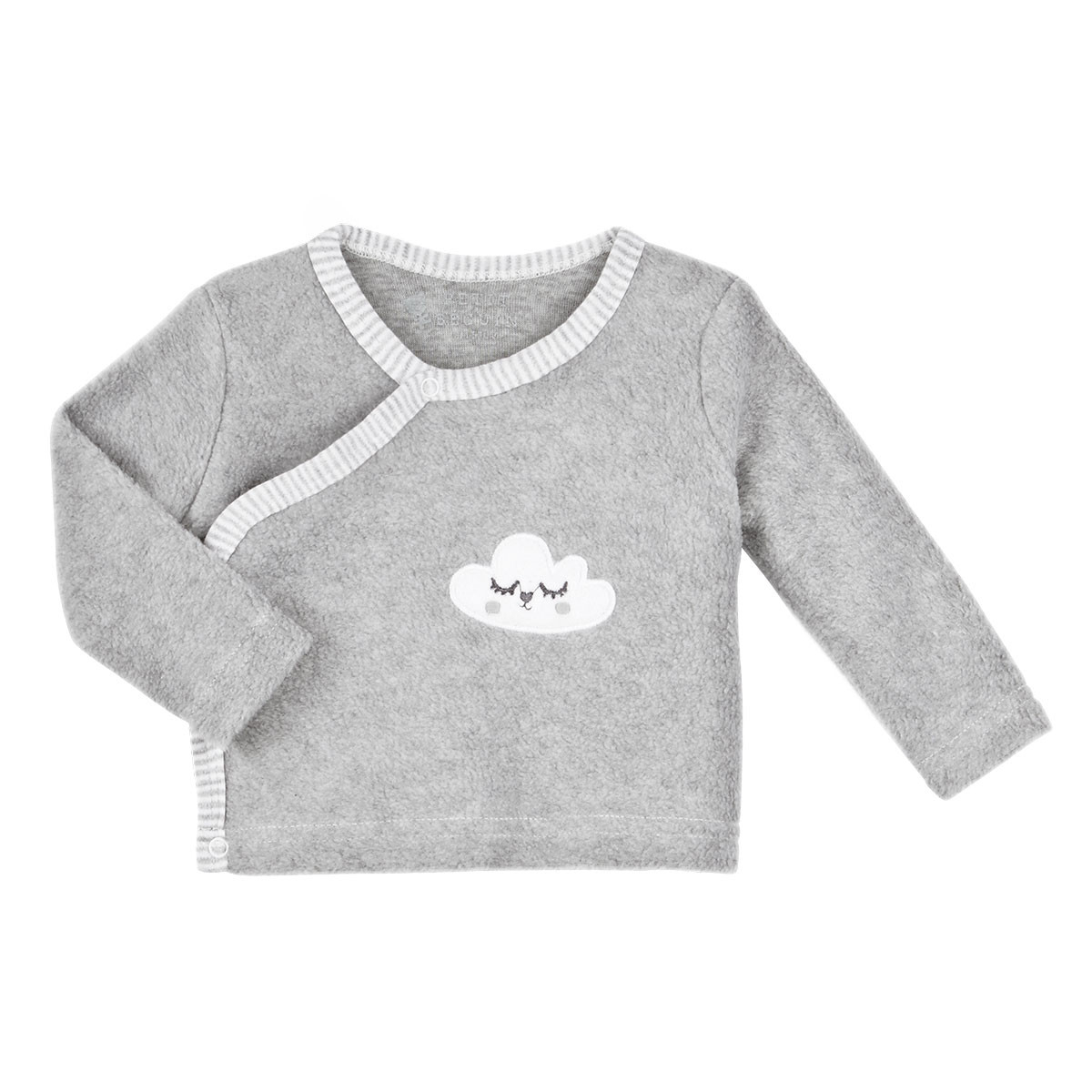 Gilet polaire gris bébé mixte With Love