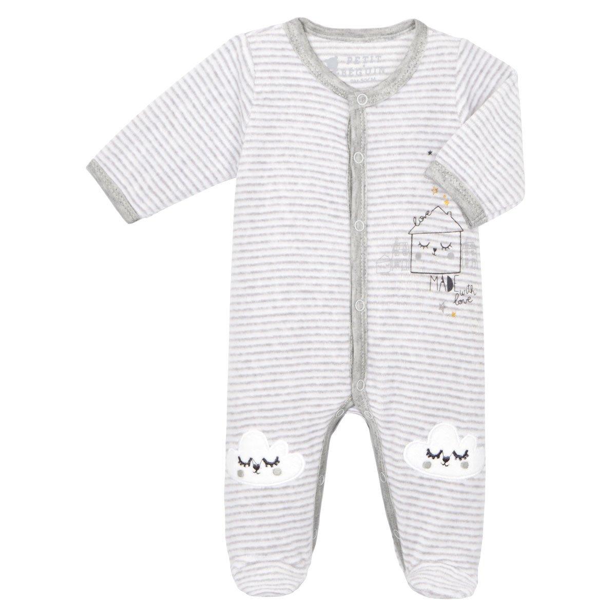 Pyjama bébé velours mixte With Love